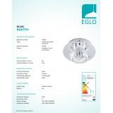 EGLO 91192   Bantry7 Eglo mennyezeti lámpa 1x G9 króm, kristály