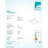 EGLO 96152   Salobrena-1 Eglo álmennyezeti LED panel 1x LED 2100lm 4000K fehér