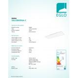 EGLO 96664 | EGLO-Connect-Salobrena Eglo álmennyezeti, mennyezeti, függeszték okos világítás téglalap távirányító szabályozható fényerő, állítható színhőmérséklet, színváltós 1x LED 4300lm 2700 <-> 6500K fehér