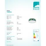 EGLO 97762 | Tabara Eglo mennyezeti lámpa kerek 1x E27 fehér, zöld, fekete