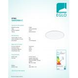 EGLO 97961 | EGLO-Connect-Sarsina Eglo mennyezeti okos világítás távirányító szabályozható fényerő, állítható színhőmérséklet, színváltós 1x LED 4250lm 2700 <-> 6500K fehér