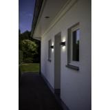 LUTEC 5189111118 | WiZ-Gemini Lutec fali WiZ okos világítás szabályozható fényerő, állítható színhőmérséklet, színváltós, elforgatható alkatrészek, WiFi kapcsolat 1x LED 900lm 2200 <-> 6500K IP54 fekete, átlátszó