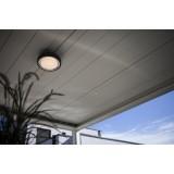 LUTEC 6335142118 | WiZ-Origo Lutec fali, mennyezeti WiZ okos világítás szabályozható fényerő, állítható színhőmérséklet, színváltós, elforgatható alkatrészek, WiFi kapcsolat 1x LED 1000lm 2200 <-> 6500K IP54 sötétszürke, opál