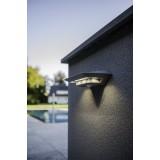 LUTEC 6901401337   Ghost-Solar Lutec falikar lámpa mozgásérzékelő, kapcsoló napelemes/szolár 1x LED 260lm 4000K IP44 ezüstszürke, átlátszó