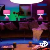 PHILIPS 8718696695241 | E14 6W Philips gyertya B39 LED fényforrás hue okos világítás 470lm 2200 <-> 6500K szabályozható fényerő, színváltós, 2 darabos szett