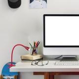 RABALUX 4198 | Jeff Rabalux csiptetős lámpa kapcsoló flexibilis 1x LED 330lm 3000K bordó