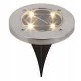 RABALUX 7975 | Dannet Rabalux leszúrható lámpa napelemes/szolár 1x LED 4lm 3000K IP44 szatén króm