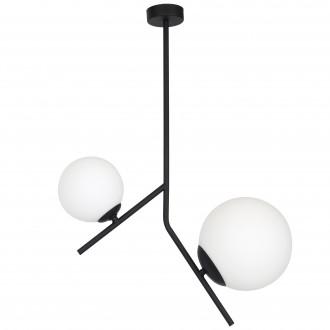 ALDEX 1011PL/H1 | Luna-AL Aldex mennyezeti lámpa 1x E14 + 1x E27 fekete, fehér