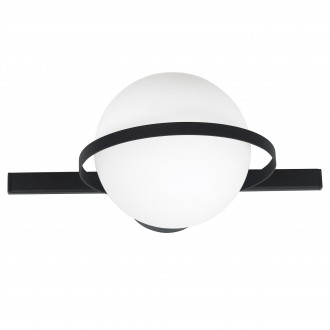 ALDEX 1015C | Drops-AL Aldex fali, mennyezeti lámpa 1x E14 fekete, fehér