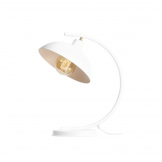 ALDEX 1036B | Espace Aldex asztali lámpa 40cm kapcsoló elforgatható alkatrészek 1x E27 fehér, króm
