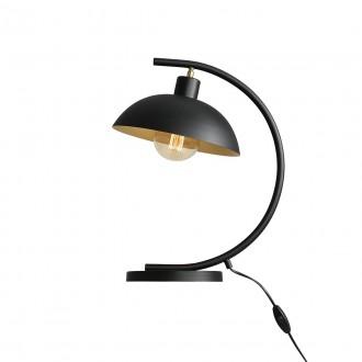 ALDEX 1036B1 | Espace Aldex asztali lámpa 40cm kapcsoló elforgatható alkatrészek 1x E27 fekete, fehér, arany