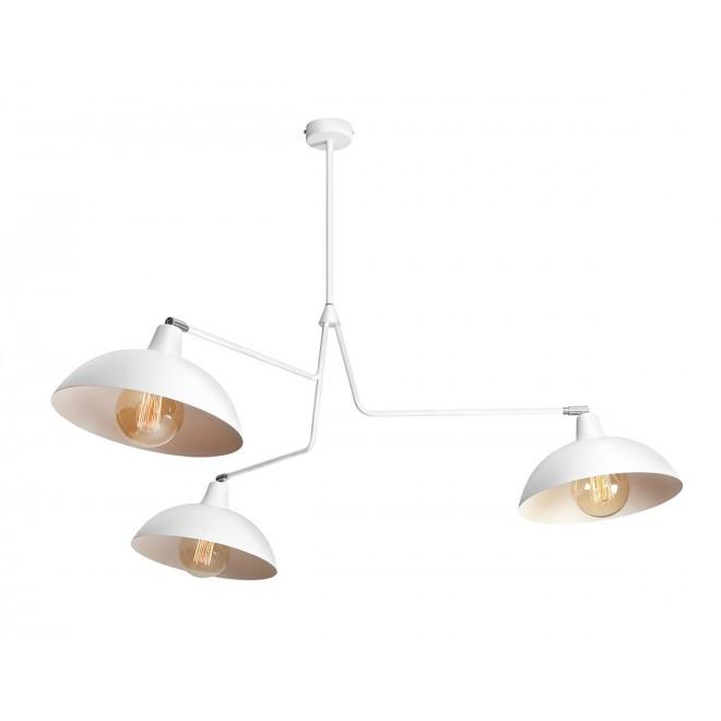 ALDEX 1036E | Espace Aldex függeszték lámpa elforgatható alkatrészek 3x E27 fehér, króm