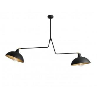 ALDEX 1036H1 | Espace Aldex függeszték lámpa elforgatható alkatrészek 2x E27 fekete, fehér, arany