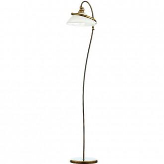 ALDEX 368/A2 | Retro-II Aldex álló lámpa 173cm kapcsoló 1x E27 antikolt arany, opál