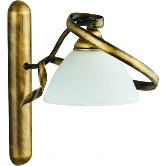 ALDEX 368/C2 | Retro-II Aldex falikar lámpa 1x E27 antikolt arany, opál