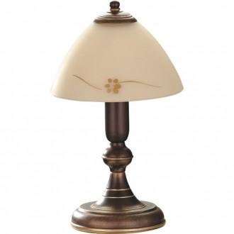 ALDEX 377B | HitA Aldex asztali lámpa 32cm kapcsoló 1x E27 antik vörösréz, krémszín