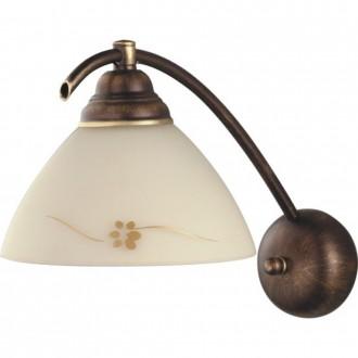 ALDEX 377C | HitA Aldex falikar lámpa 1x E27 antik vörösréz, krémszín