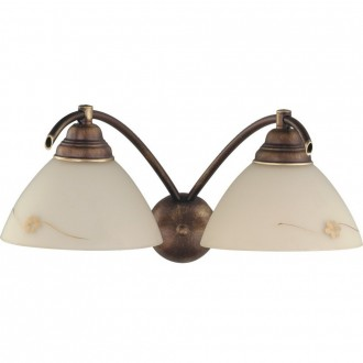 ALDEX 377D | HitA Aldex falikar lámpa 2x E27 antik vörösréz, krémszín