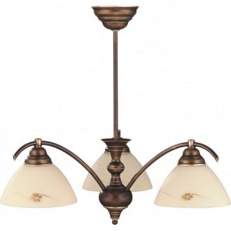 ALDEX 377E | HitA Aldex mennyezeti lámpa 3x E27 antik vörösréz, krémszín