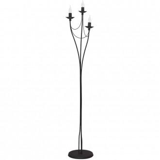 ALDEX 397A1   Roza Aldex álló lámpa 164cm taposókapcsoló 3x E14 fekete