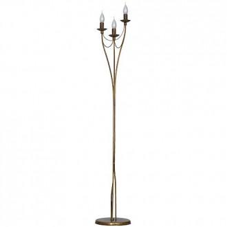 ALDEX 397A26 | Roza_I Aldex álló lámpa 164cm taposókapcsoló 3x E14 antikolt réz