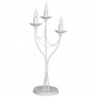 ALDEX 397B/D   Roza Aldex asztali lámpa 63cm vezeték kapcsoló 3x E14 fehér