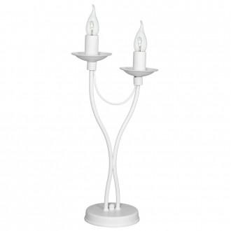 ALDEX 397B/M   Roza Aldex asztali lámpa 47cm vezeték kapcsoló 2x E14 fehér