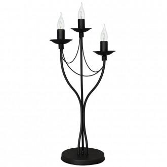 ALDEX 397B1/D   Roza Aldex asztali lámpa 63cm vezeték kapcsoló 3x E14 fekete