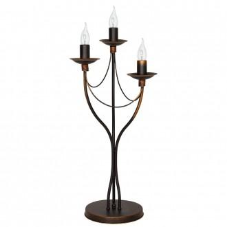 ALDEX 397B16/D | Roza_I Aldex asztali lámpa 63cm vezeték kapcsoló 3x E14 bronz