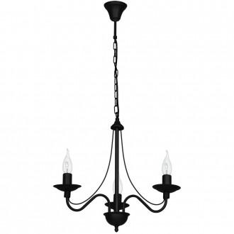 ALDEX 397E/1   Roza Aldex csillár lámpa 3x E14 fekete