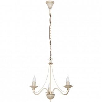 ALDEX 397E/9   Roza Aldex csillár lámpa 3x E14 krémszín