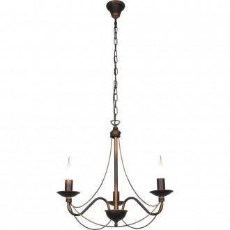 ALDEX 397E16 | Roza_I Aldex csillár lámpa 3x E14 bronz