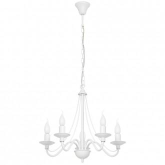 ALDEX 397F   Roza Aldex csillár lámpa 5x E14 fehér