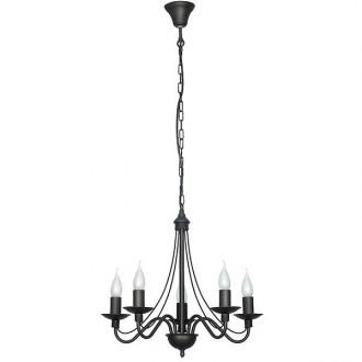 ALDEX 397F1 | Roza Aldex csillár lámpa 5x E14 fekete