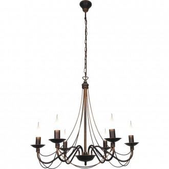 ALDEX 397K16 | Roza_I Aldex csillár lámpa 6x E14 bronz