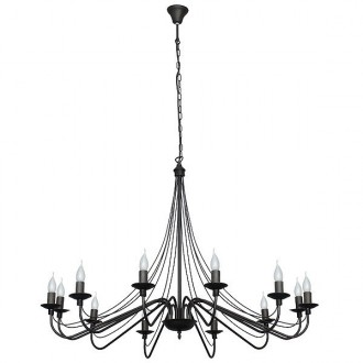 ALDEX 397R1   Roza Aldex csillár lámpa 12x E14 fekete