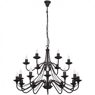 ALDEX 397S1   Roza Aldex csillár lámpa 18x E14 fekete