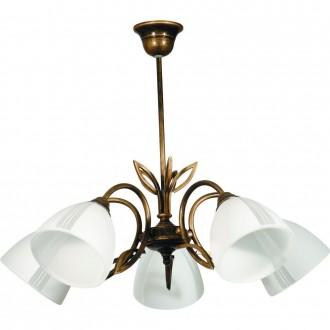 ALDEX 401F | Rybka Aldex mennyezeti lámpa 5x E27 antikolt bronz, fehér