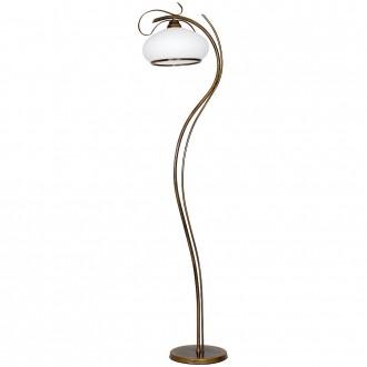 ALDEX 493A | Patyna_VIII Aldex álló lámpa 176cm kapcsoló 1x E27 antikolt bronz, fehér