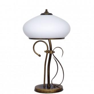 ALDEX 493B1 | Patyna_VIII Aldex asztali lámpa 60cm kapcsoló 1x E14 antikolt bronz, fehér