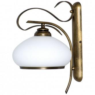 ALDEX 493C | Patyna_VIII Aldex fali lámpa 1x E27 antikolt bronz, fehér