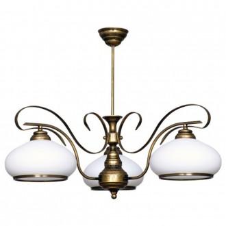 ALDEX 493E | Patyna_VIII Aldex mennyezeti lámpa 3x E27 antikolt bronz, fehér