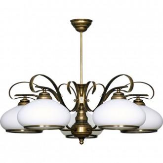 ALDEX 493F | Patyna_VIII Aldex mennyezeti lámpa 5x E27 antikolt bronz, fehér