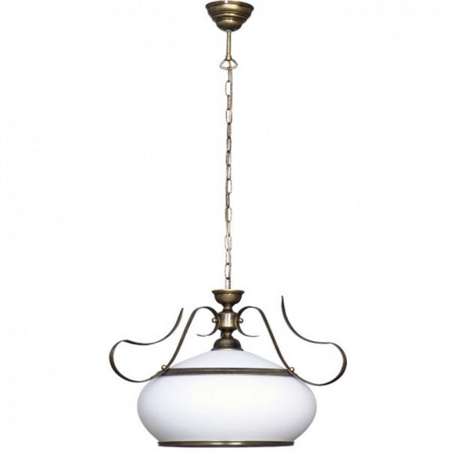 ALDEX 493G | Patyna_VIII Aldex függeszték lámpa 1x E27 antikolt bronz, fehér