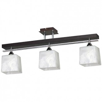 ALDEX 527E | FabioA Aldex mennyezeti lámpa 3x E27 fekete, króm, fehér