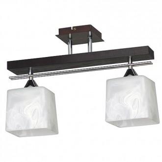 ALDEX 527H | FabioA Aldex mennyezeti lámpa 2x E27 fekete, króm, fehér