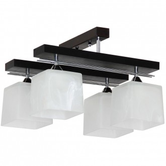ALDEX 527L | FabioA Aldex mennyezeti lámpa 4x E27 fekete, króm, fehér