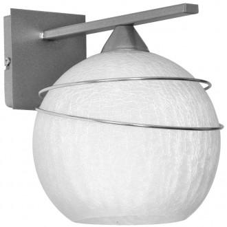 ALDEX 546C | SyriuszA Aldex fali lámpa 1x E27 matt nikkel, fehér