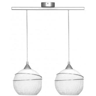 ALDEX 546H | SyriuszA Aldex függeszték lámpa 2x E27 matt nikkel, fehér
