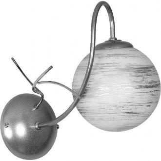 ALDEX 556C | RomanceA Aldex falikar lámpa 1x E14 ezüst, fehér